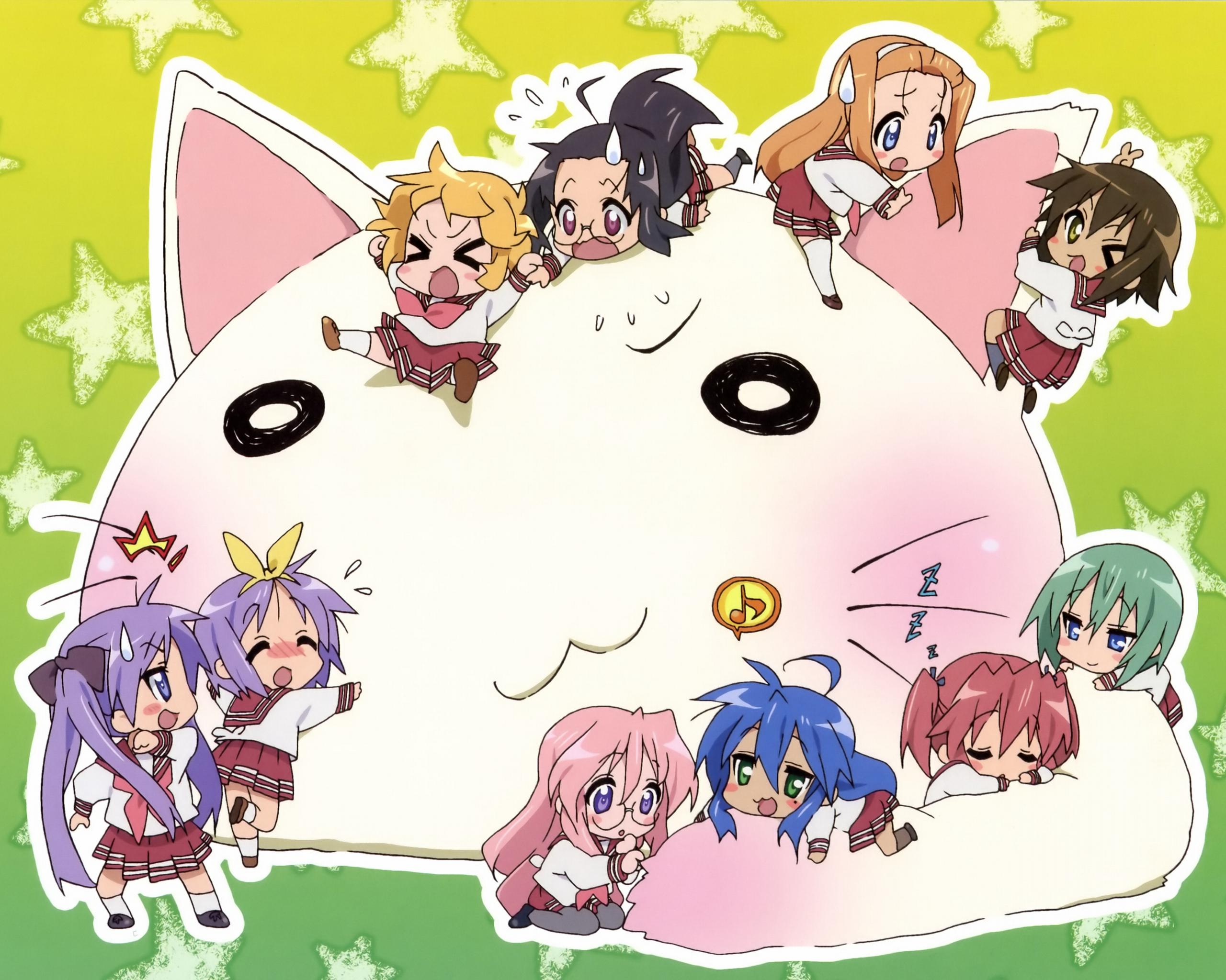 Lucky Star and Cat   Zero Kyu 09 Wallpaper 30328889 2560x2048