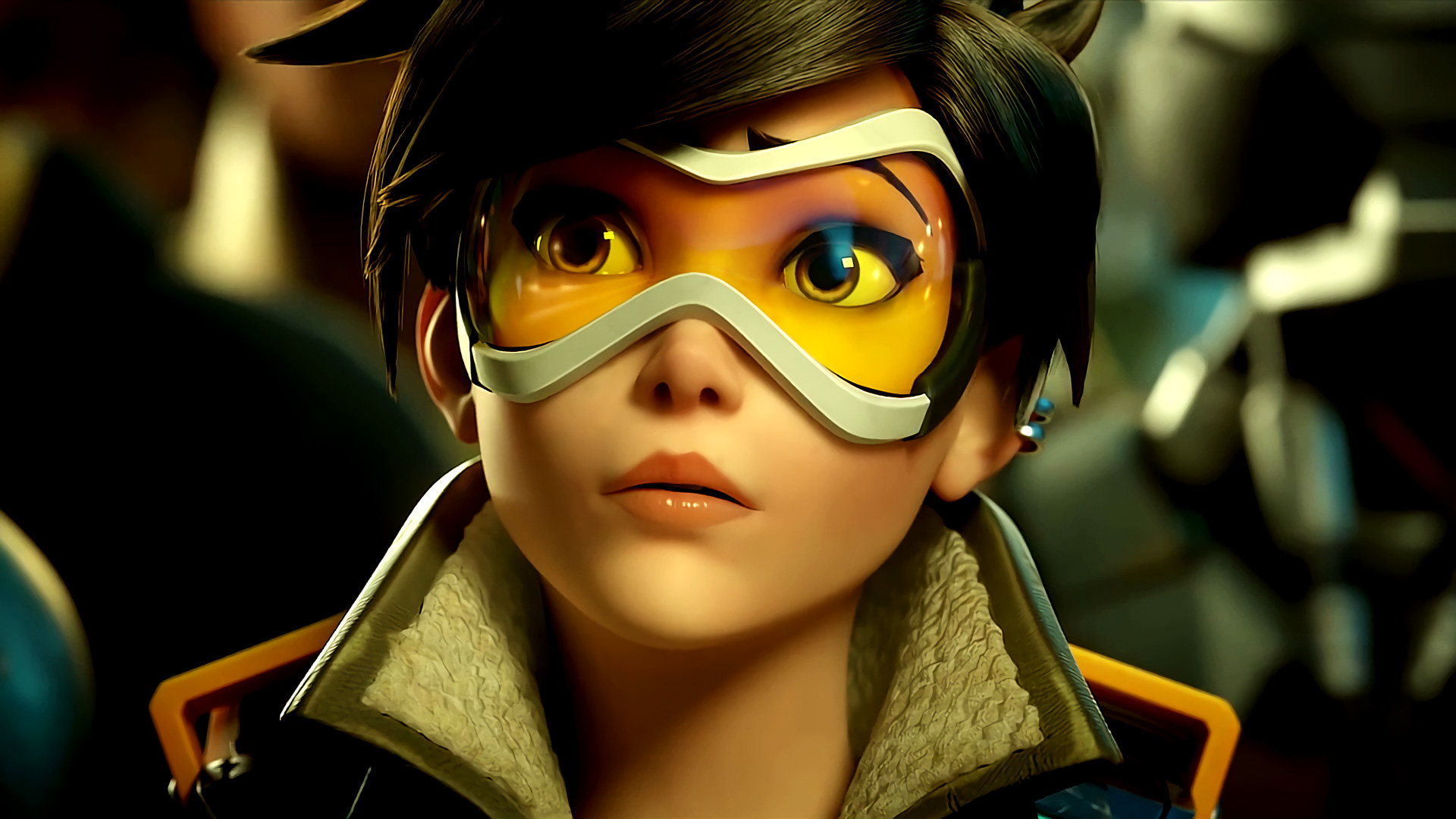Overwatch Agent Tracer Wallpapers HD Wallpapers 1920x1080