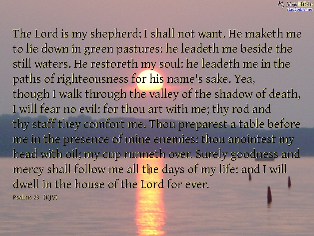 christian wallpaper of Psalms 23   Make Christian wallpaper 1024x768
