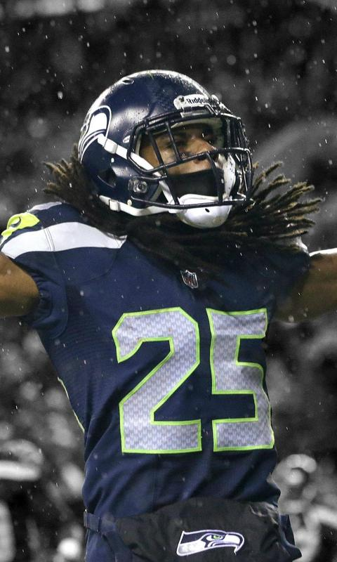 Download Seattle Seahawks Richard Sherman Wallpaper For HTC HD2 480x800