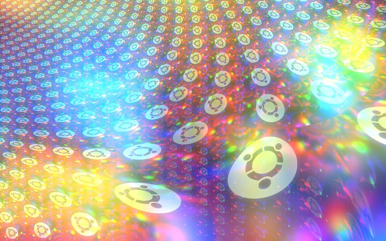 Ubuntu Holographic Rainbow Fractal Wallpaper by cdooginz on DeviantArt