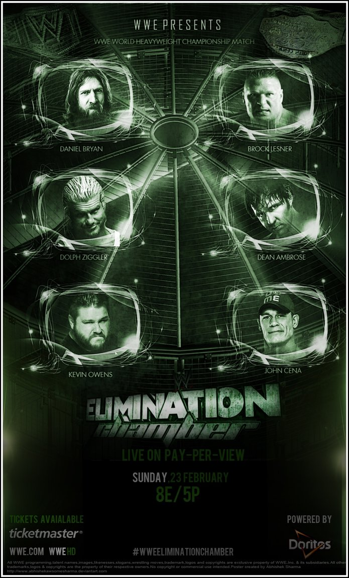Elimination Chamber 2016 Custom Poster by 695x1150