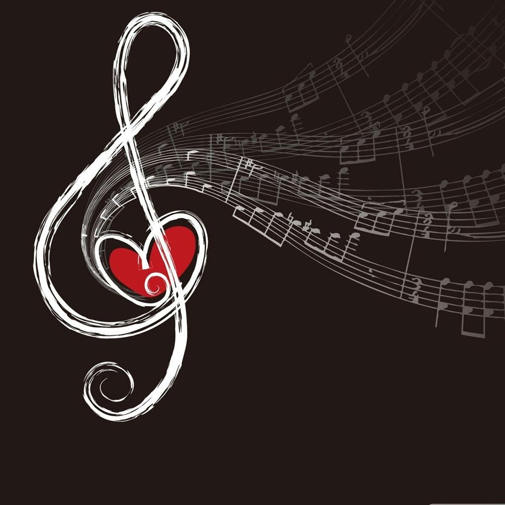 Musical notes iPad Wallpaper and iPad 2 Wallpaper 1024x1024