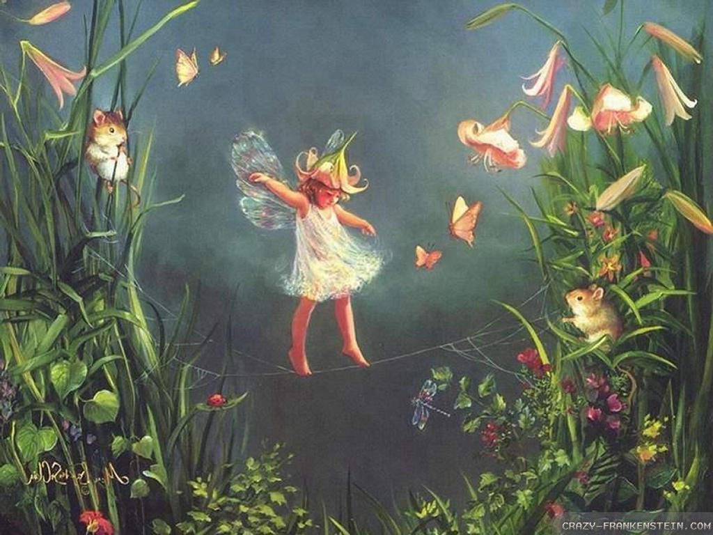 Flower Fairy Wallpaper 2 1024x768