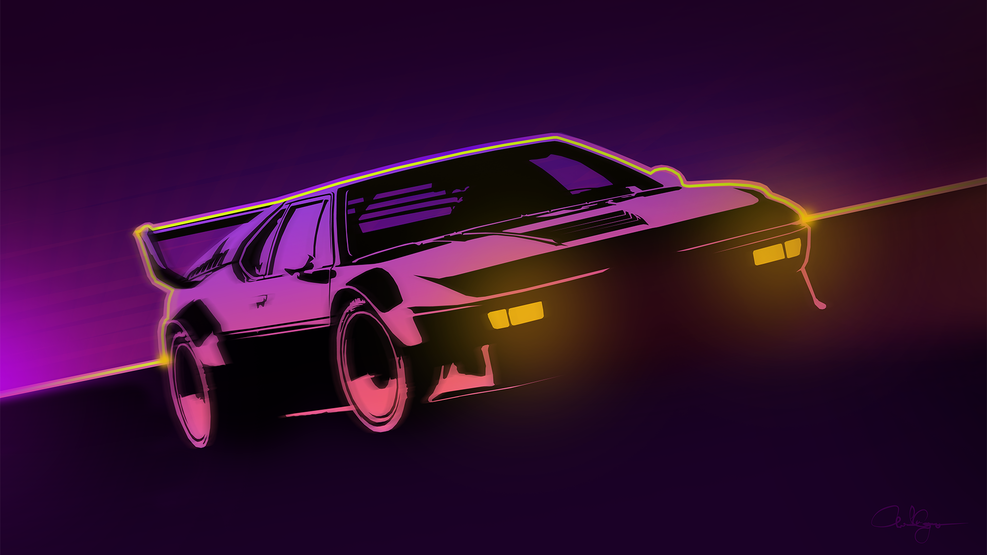 80s themed tribute to the BMW M1 [1920 x 1080] Themes in 2019 1920x1080
