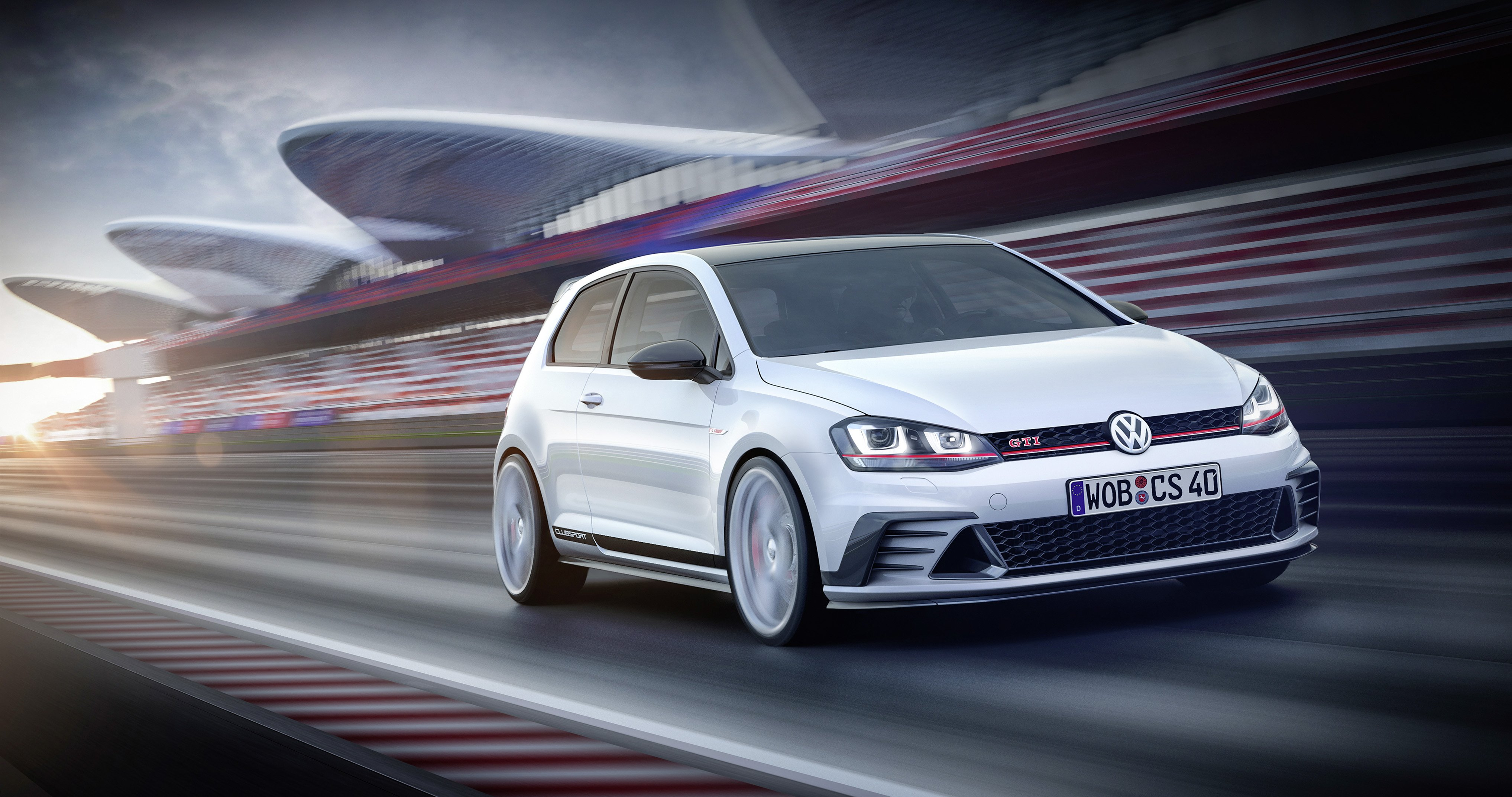 Volkswagen Golf GTI Clubsport Concept cars 2015 wallpaper 4069x2146 4069x2146
