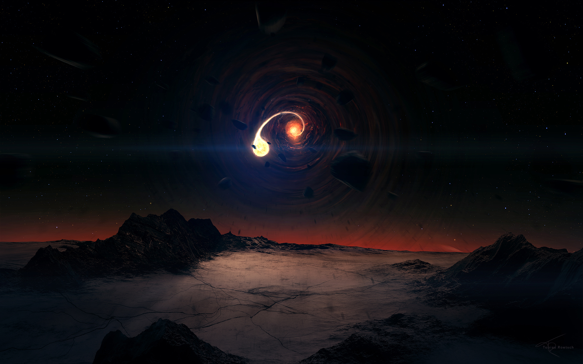 Black Hole Scene Wallpapers HD Wallpapers 1920x1200