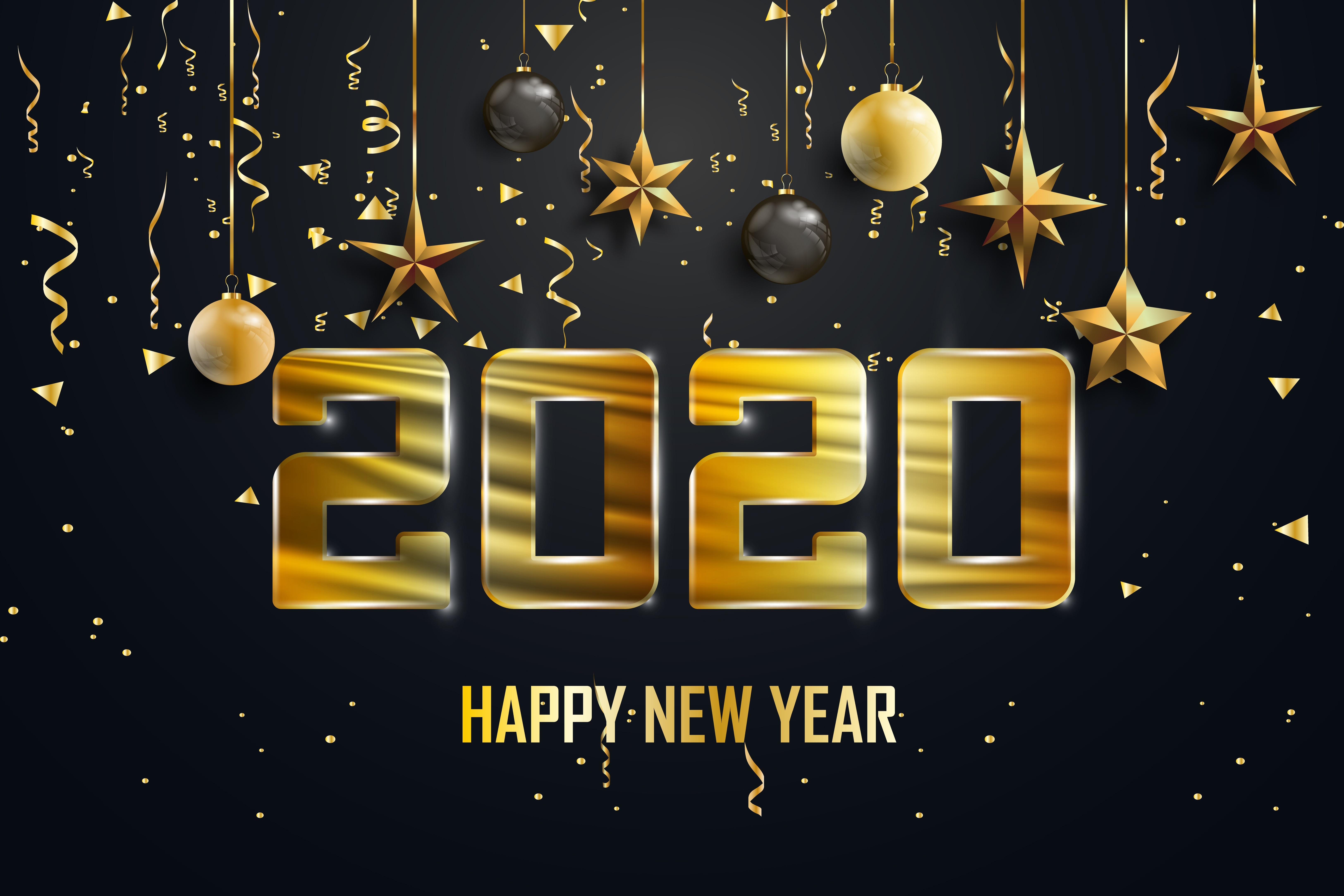 New Year 2020 5k Retina Ultra HD Wallpaper Background Image 6500x4333
