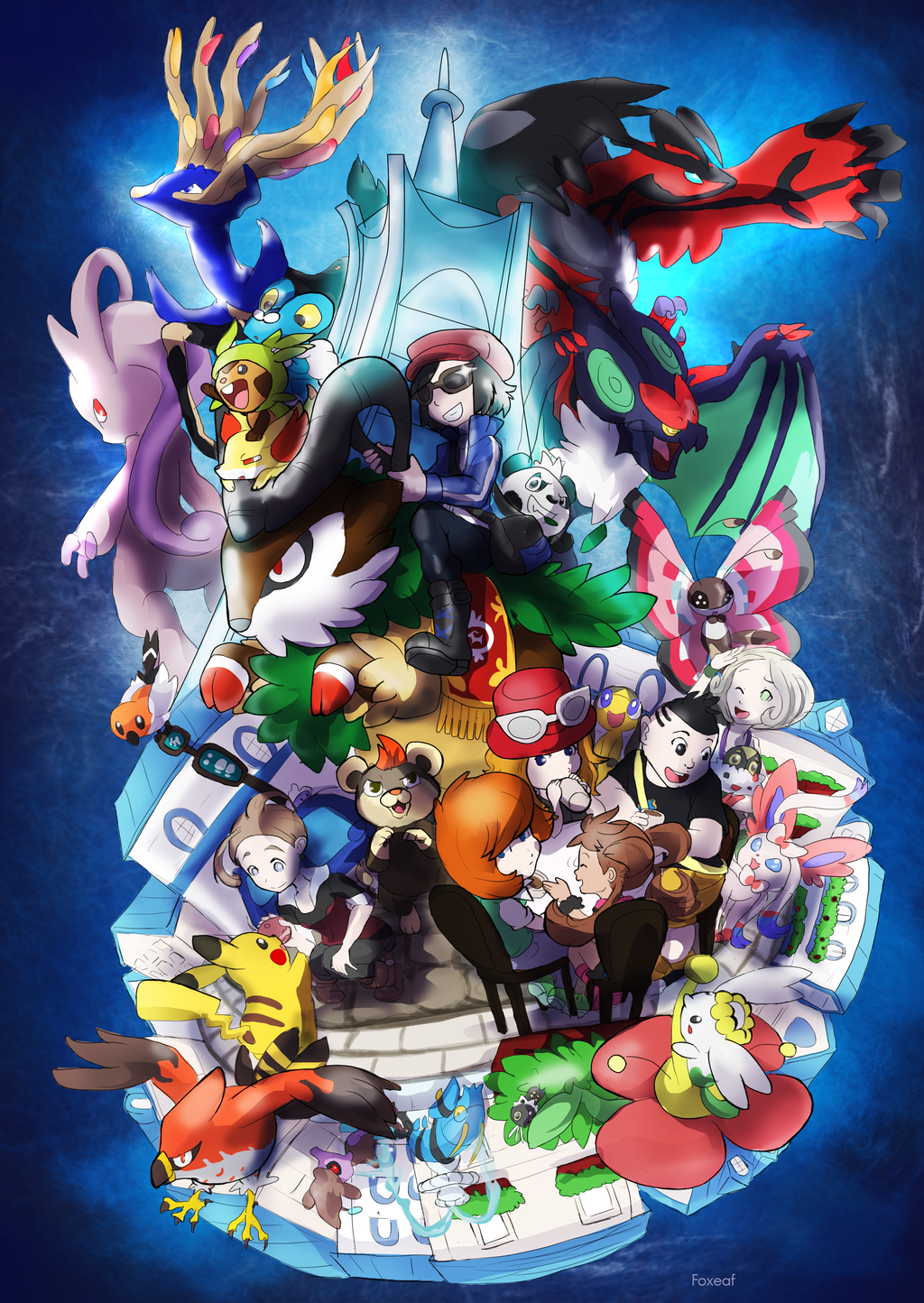 Pokemon X and Y   Pokmon Fan Art 34792858 1024x1444