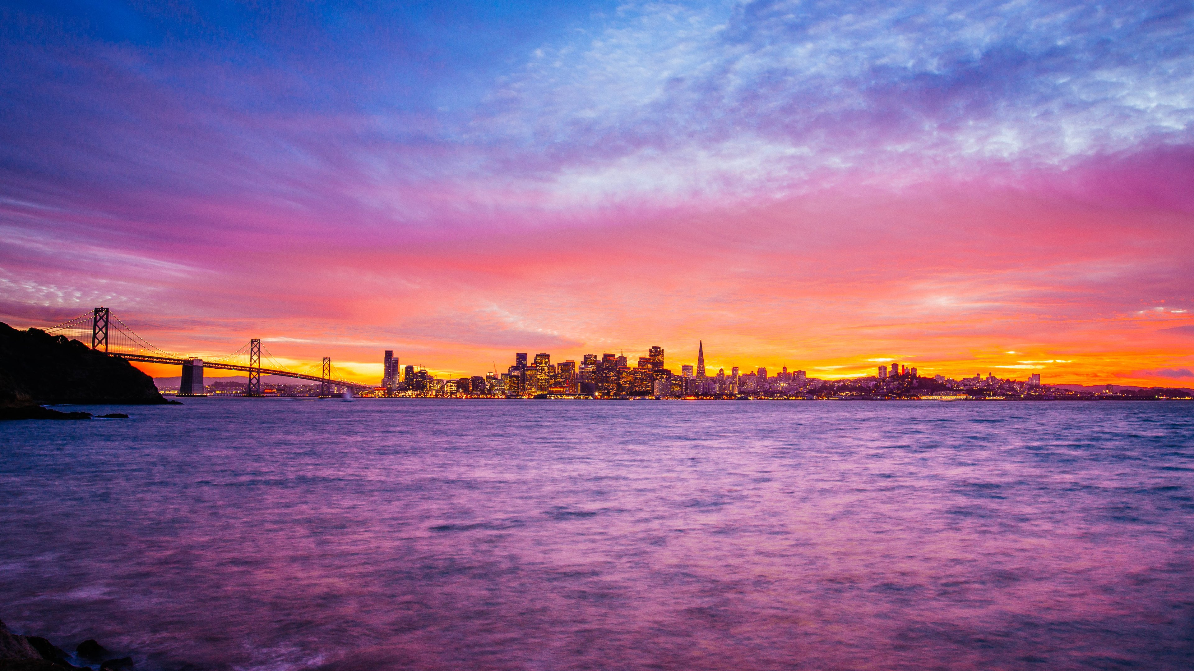 San Francisco   Treasure Island   Sunset 3840x2160