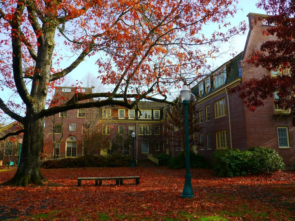 Autumn comes to Hendricks Hall on the University of Oregon Flickr 1024x768