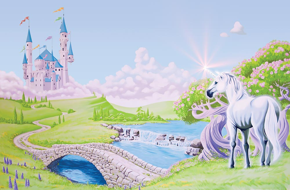 Princess castle wallpaper wallpapersafari for Disney princess castle mural