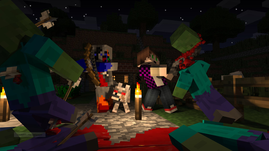 Epic Minecraft Drawings Minecraft wallpaper 1 by 1024x576