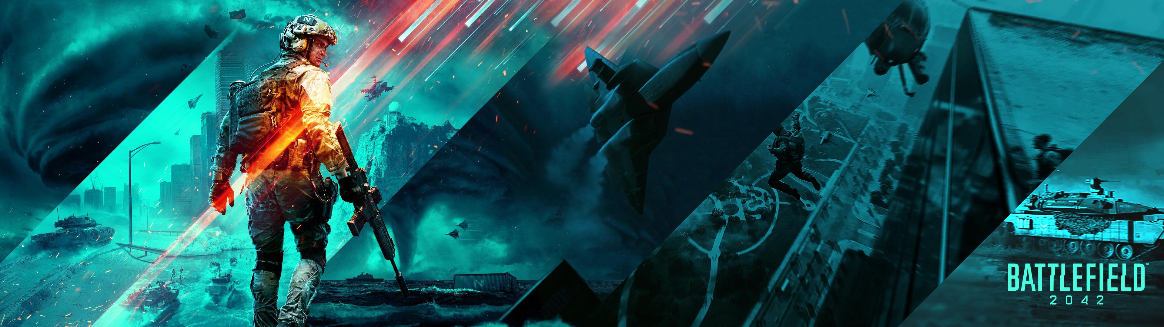 Battlefield 2042 widescreen fan made Wallpaper battlefield2042 3840x1080