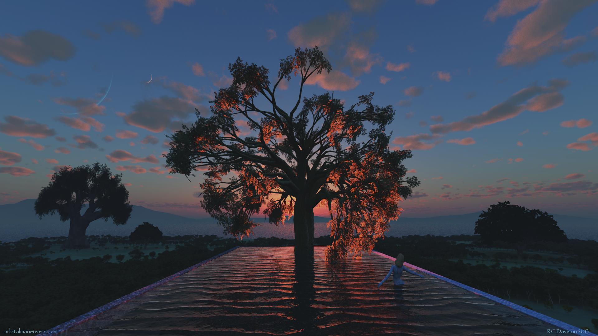 Free Download Wallpaper Tree Of Life Orbital Maneuvers 1920x1080