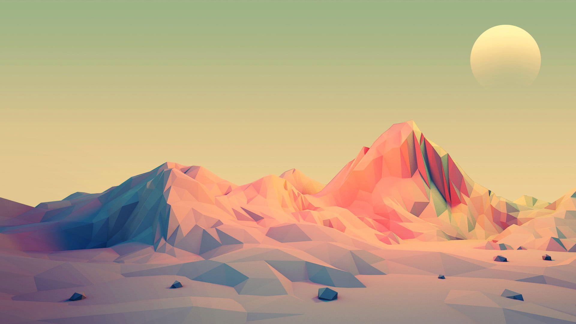 Vector Wallpaper Mountain illustration wallpaper mountains 1920x1080