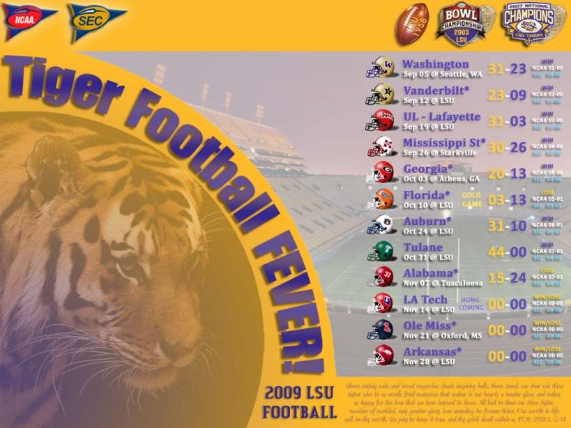 Lsu Football Schedule 2015 Wallpaper Lsu Tigers Football Schedule by 819x614