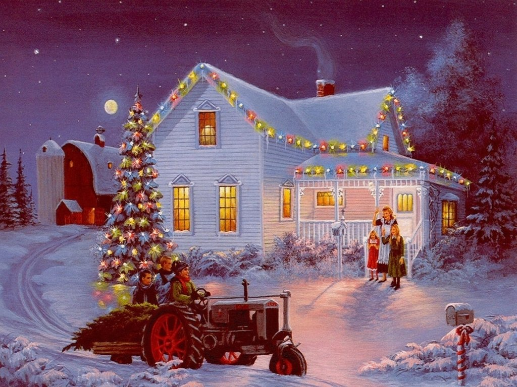 The Farm Cynthia Lang 1024   Christmas Photography Desktop Wallpapers 1024x768
