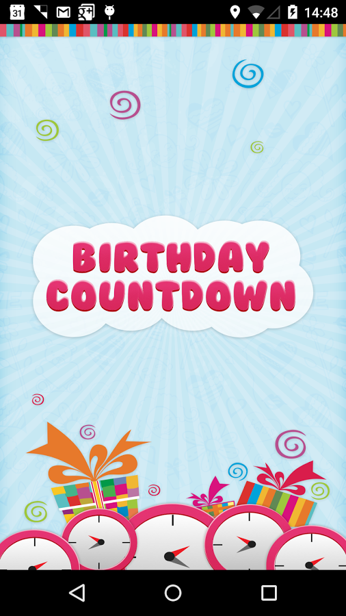 Birthday Countdown   Android Apps on Google Play 506x900