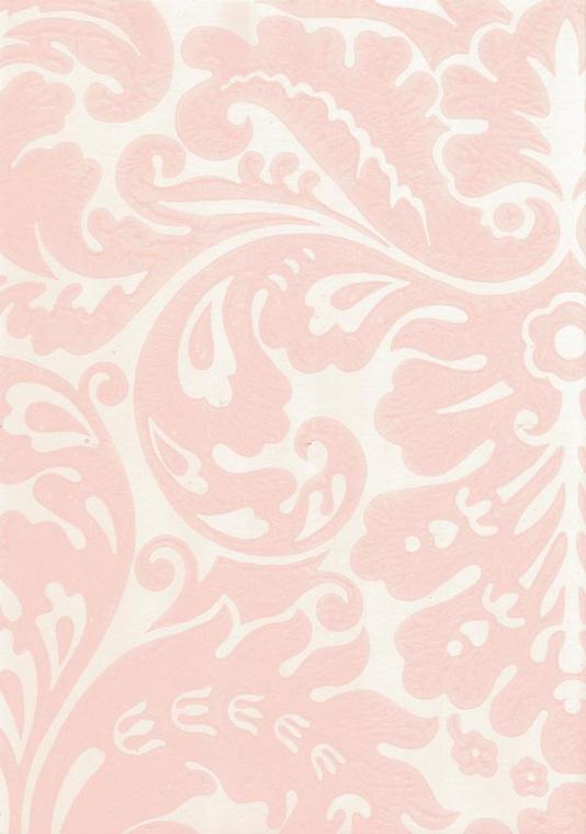 Silvergate Wallpaper Pale pink damask design wallpaper on off white 534x760