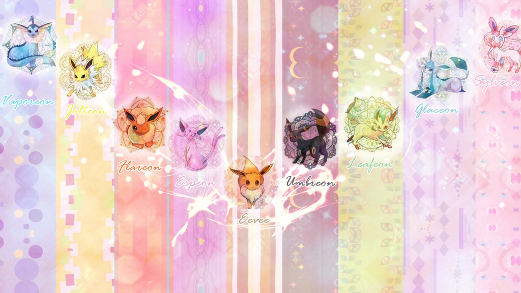 Eeveelutions Wallpaper by LilianaXLeilani 1024x577