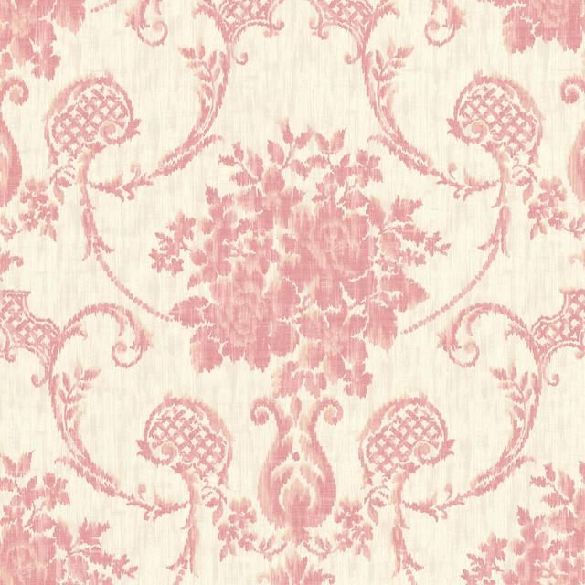 Marais Pink Ikat Damask Wallpaper Bolt   Victorian   Wallpaper   by 640x640