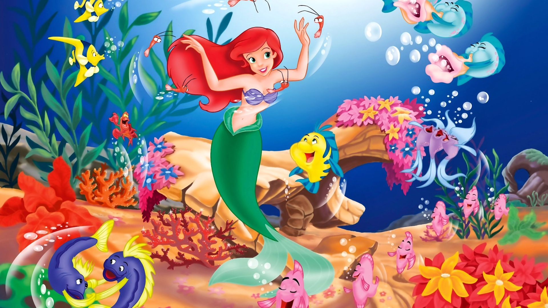 wallpapersthe little mermaid wallpapers hd 1920 1080 hd desktop 1920x1080