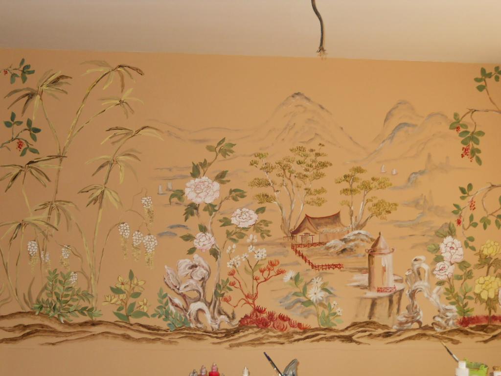 Asian landscape murals
