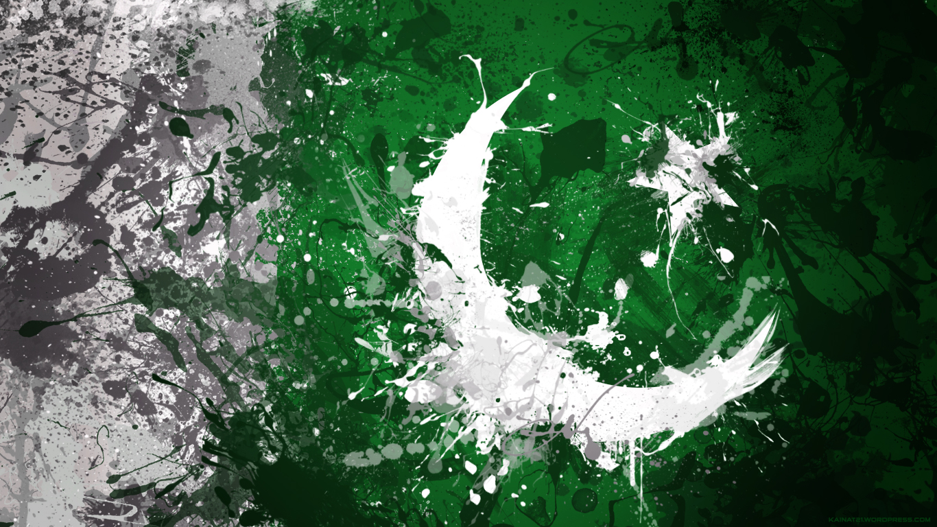 pakistan flag Kainat  Desktop Wallpapers 1366x768