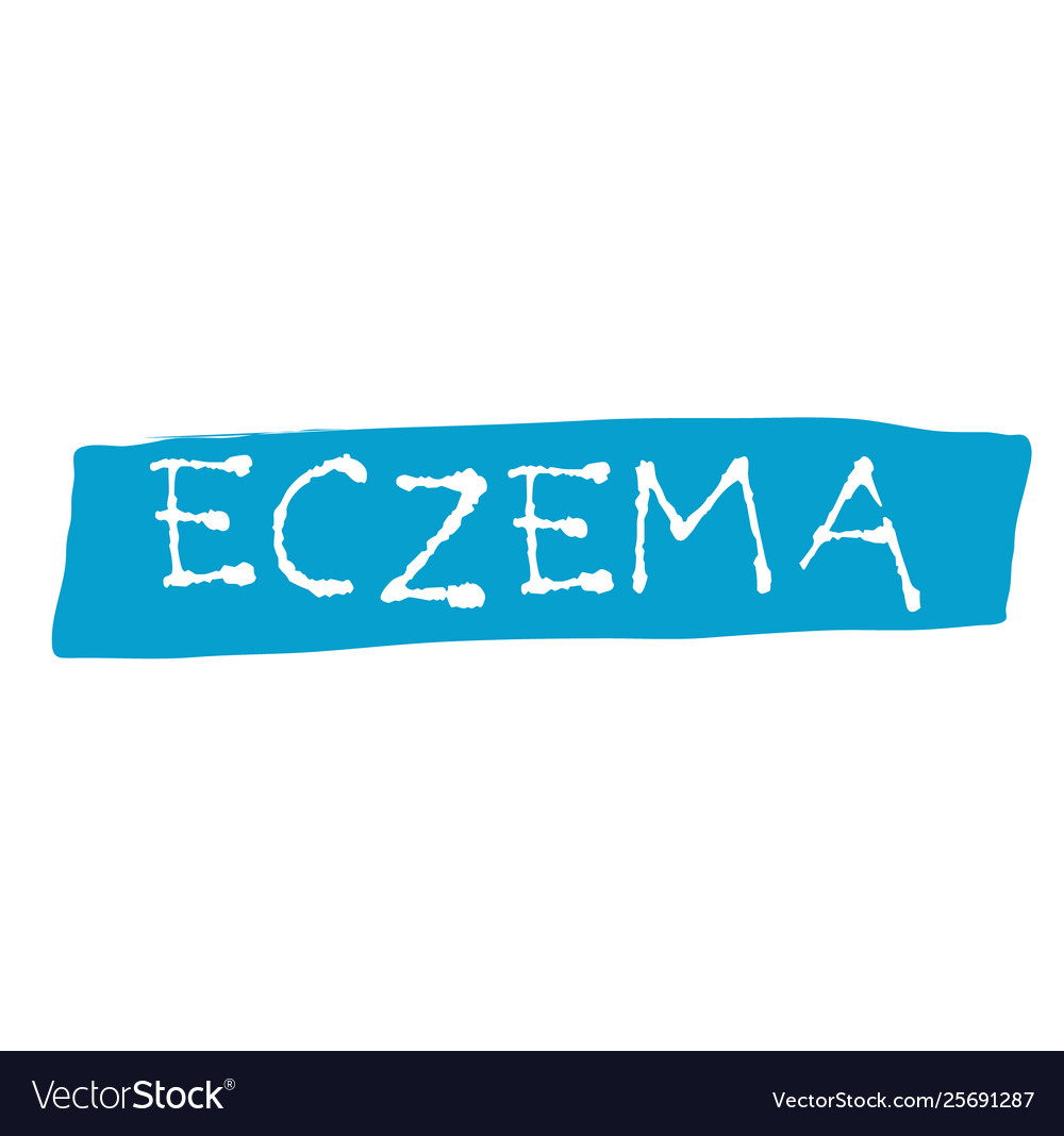 Eczema stamp on white background Royalty Vector Image 1000x1068
