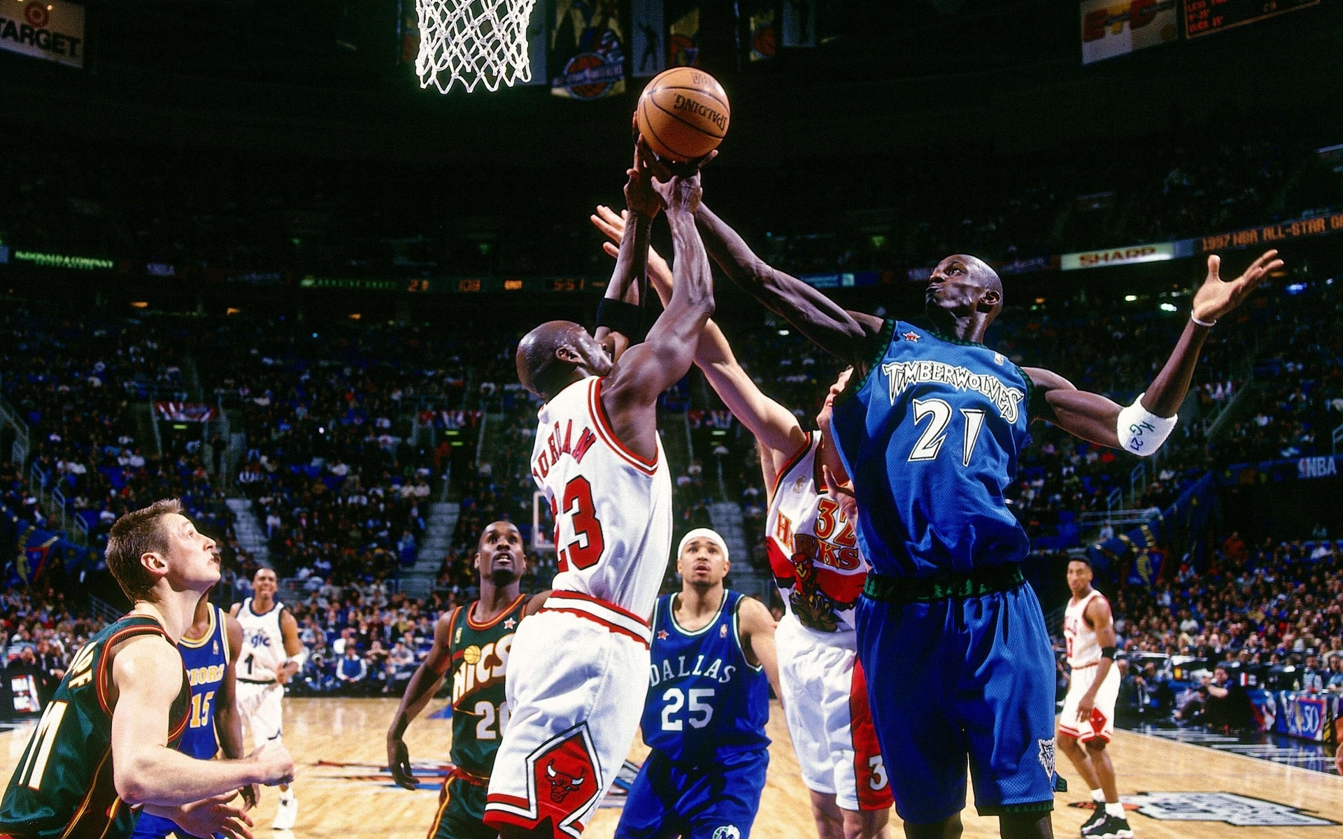 Sports nba basketball michael jordan kevin garnett chicago 1920x1200