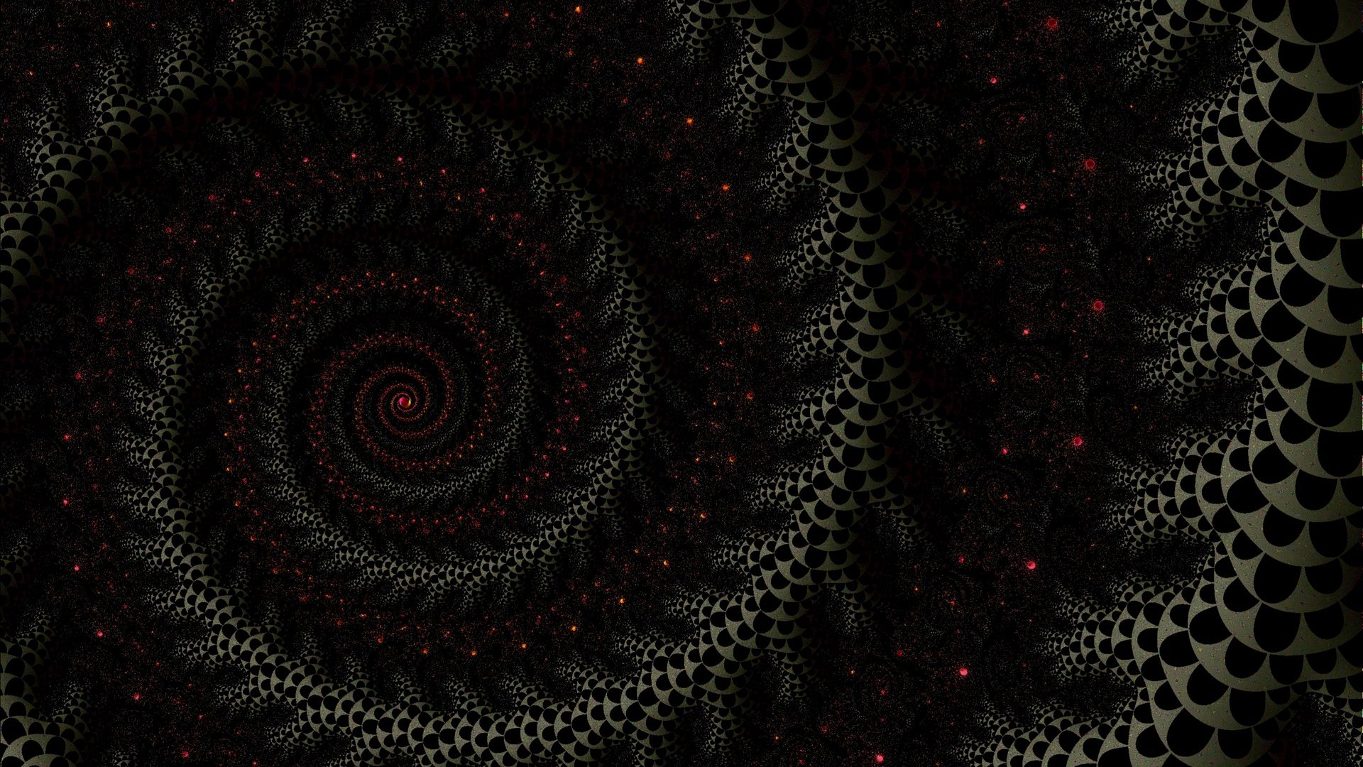 Download wallpaper 1920x1080 spiral fractal dark twisted full 1920x1080