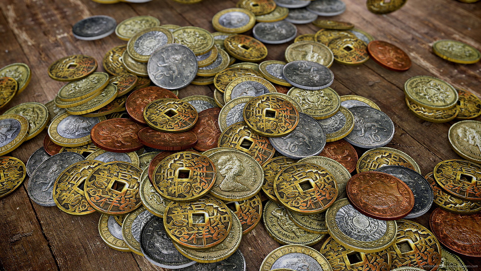 Ancient Money Coins Up Close Wallpaper Screensaver For Kindle3 And DX 1920x1080
