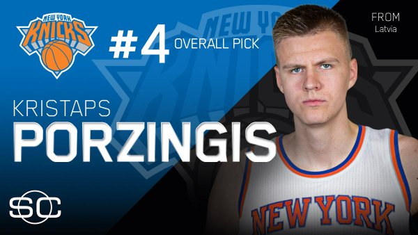 SportsCenter on Twitter Knicks take Kristaps Porzingis with No 4 600x338