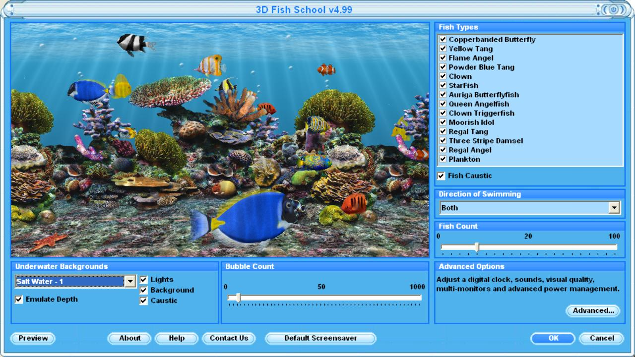 3D Fish Screensaver Virtual Fish Aquarium Download 1280x720