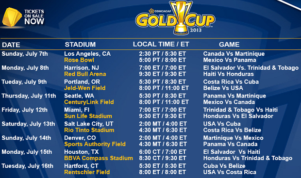 Soccer Gold Cup 2015 Schedule PC, Android, iPhone and iPad. Wallpapers ...