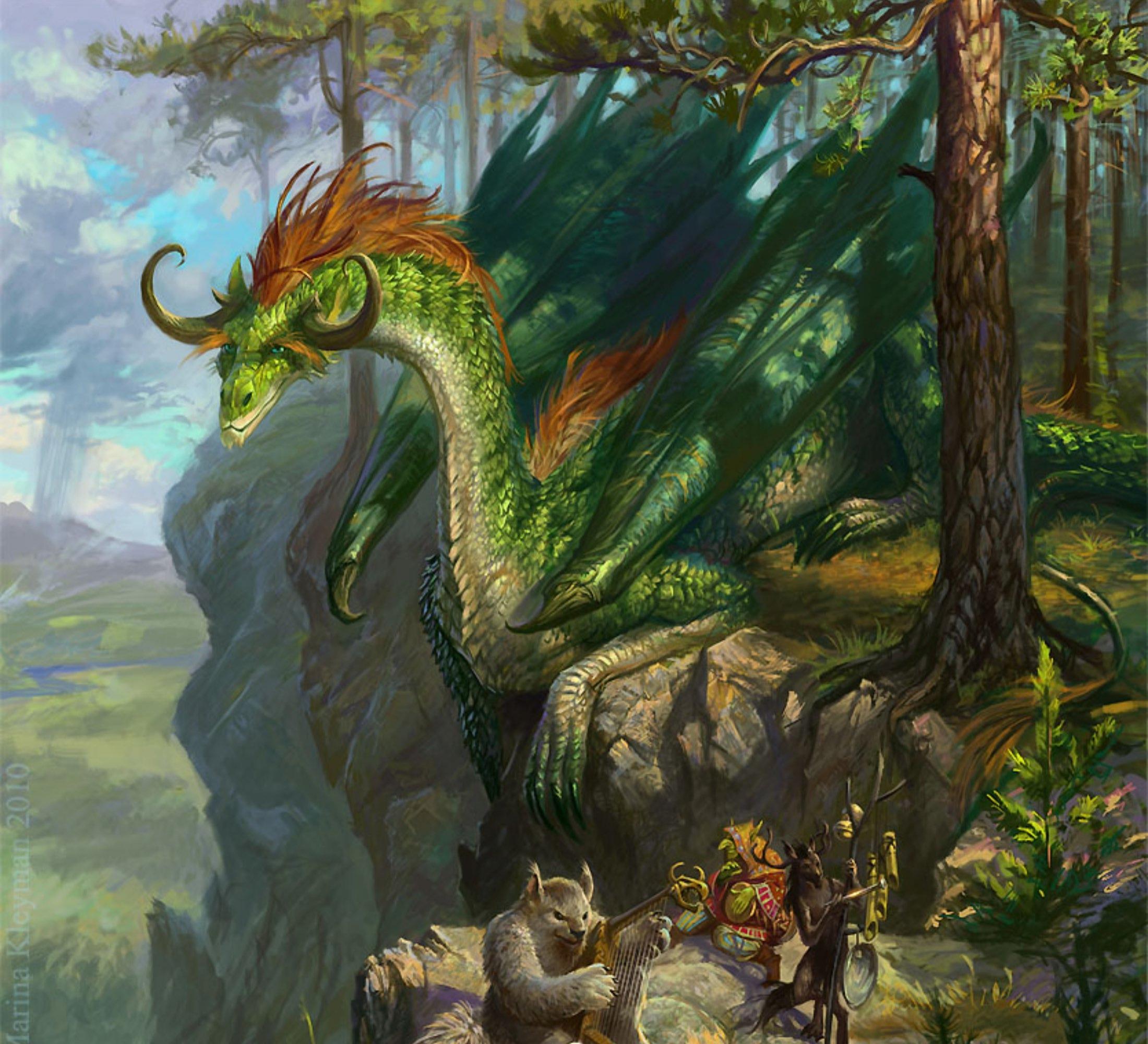 Green Desktop Wallpaper: Green Dragon Wallpaper