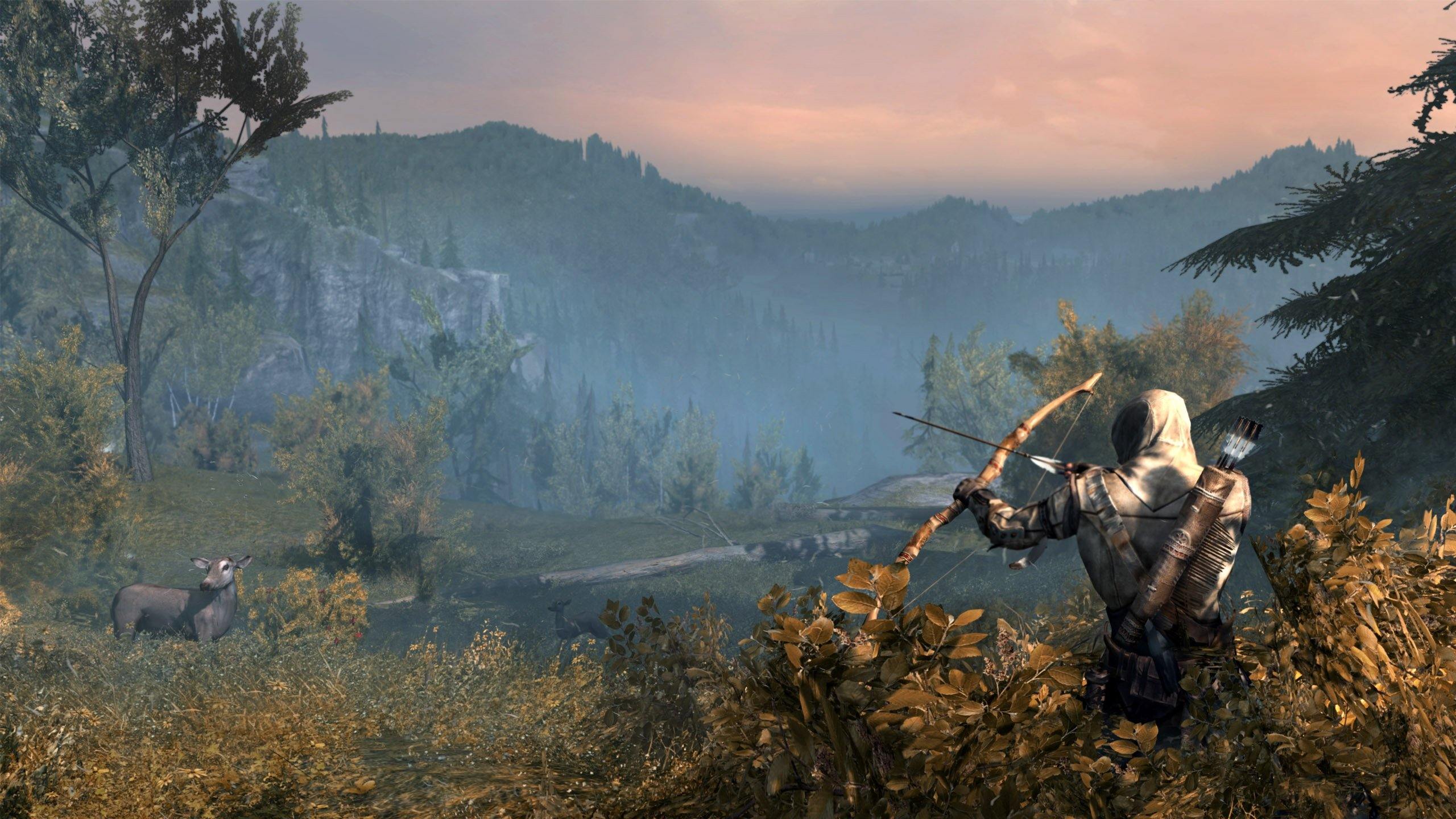 archery archer bow arrow hunting weapon assassins creed wallpaper