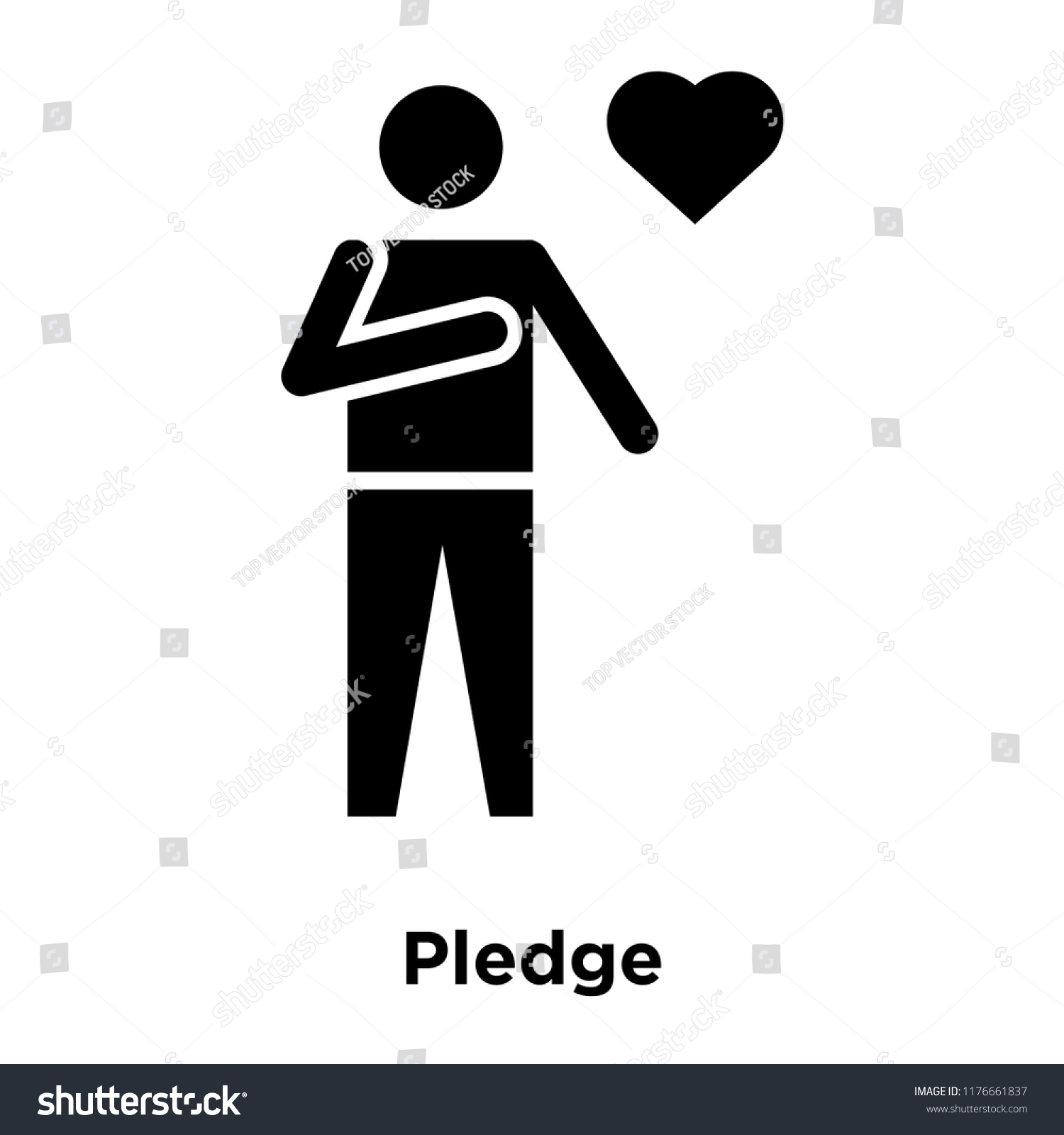 Pledge Icon Vector Isolated On White Stock Vector Royalty 1500x1600