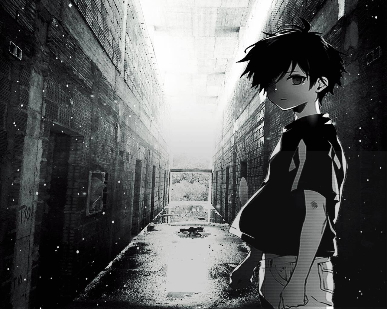 Back To 66 Sad Anime Boy Wallpapers Hd   Monochrome 1029333 1280x1024