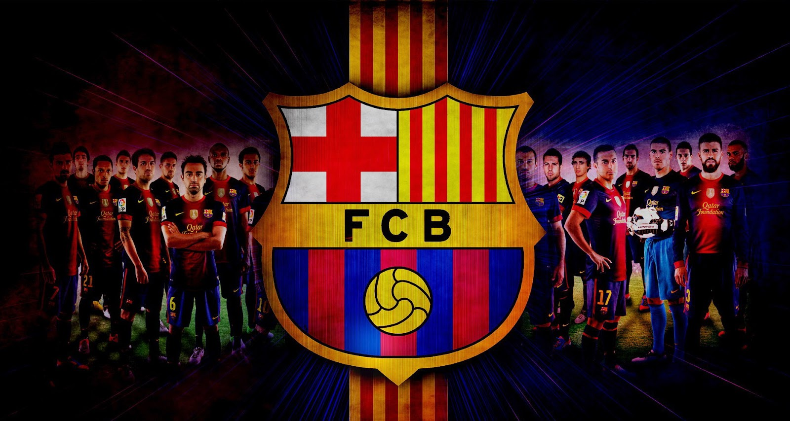 FC Barcelona Players Wallpapers 1600x854