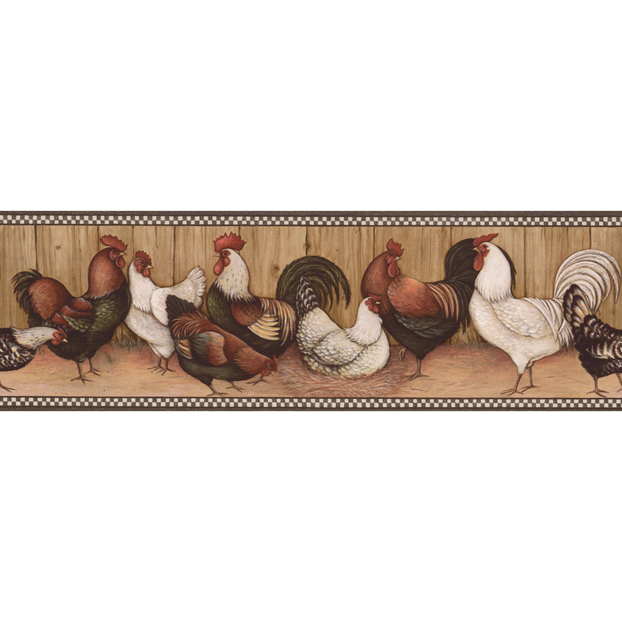 Black And Brown Rooster Prepasted Wallpaper Border at Lowescom 900x900