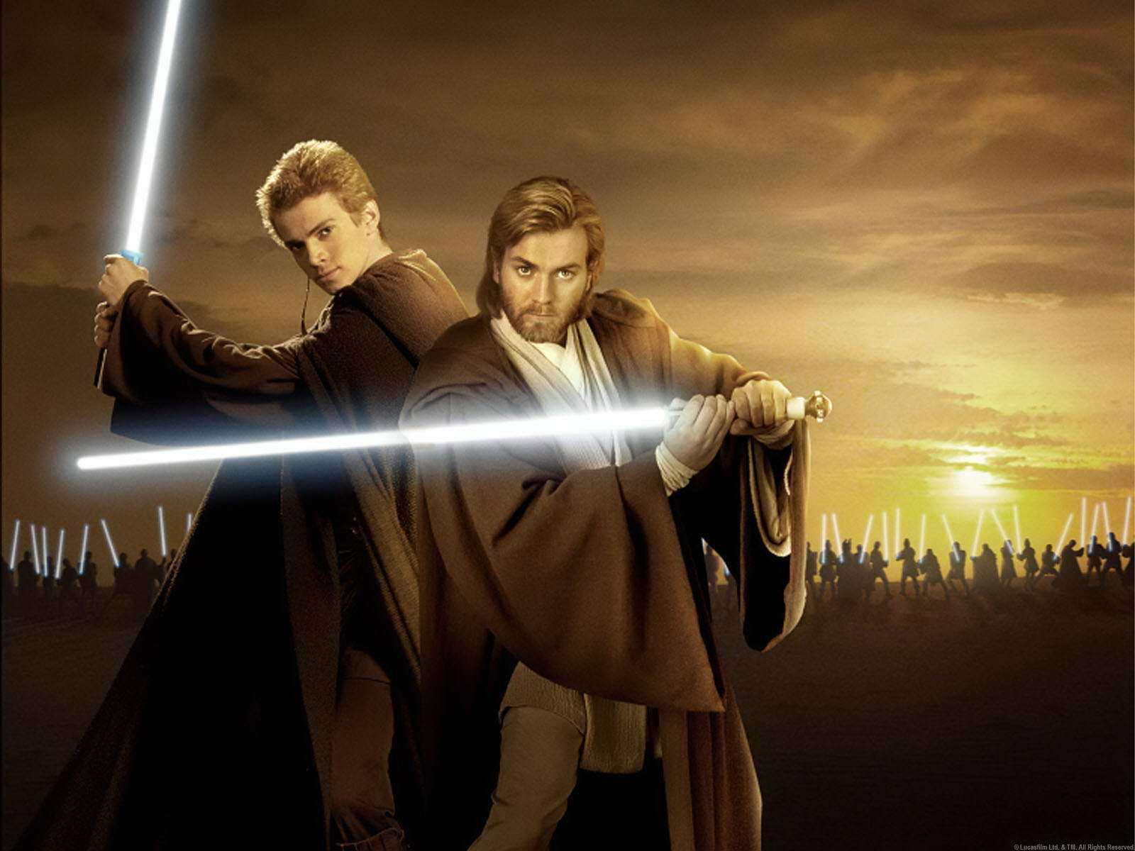 Anakin and Obi wan   obi wan kenobi and Anakin skywalker Wallpaper 1600x1200
