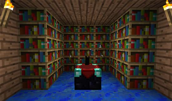 bookshelf minecraft books wallpaper desktop bookshelf minecraft 550x325