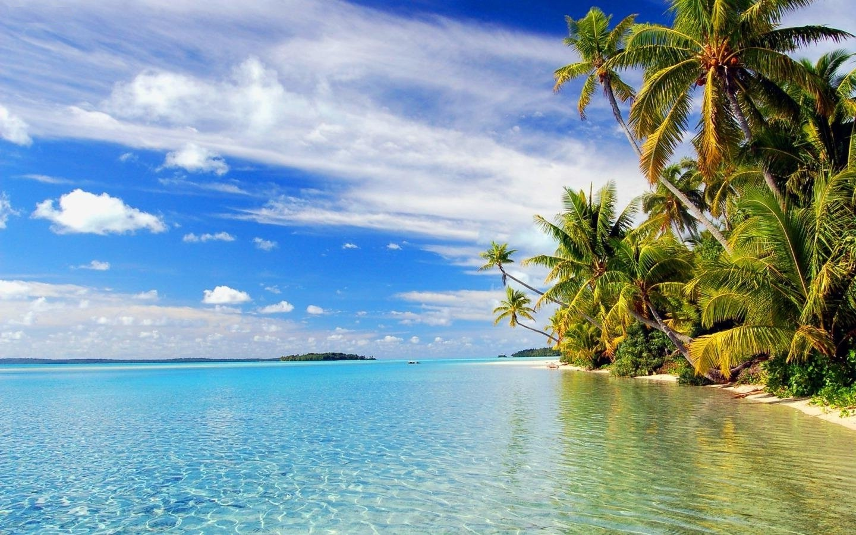 paradise beach nature desktop backgrounds 1440x900