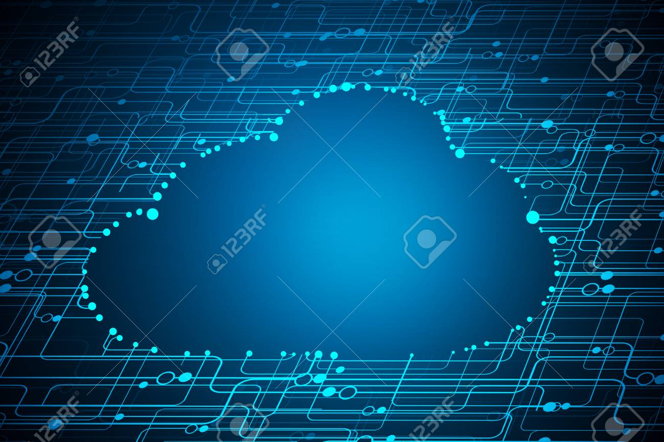 Abstract Digital Background Cloud Computing Concept 3D Rendering 1300x866
