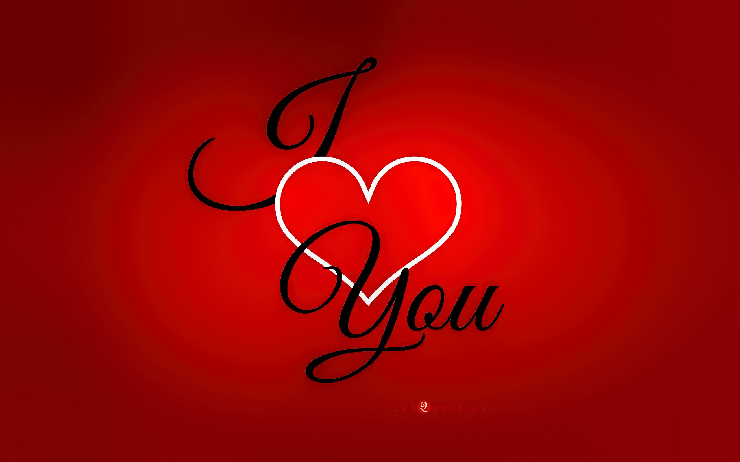 Valentines Day Card   I Love You 2560x1600