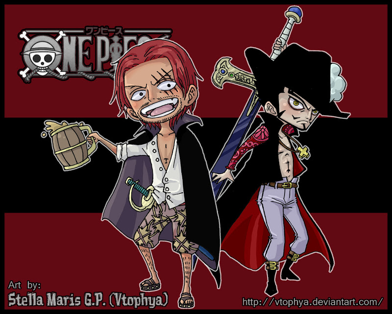 and Mihawk   Anime One Piece Chibi Wallpapers Anime Wallpapers 800x640