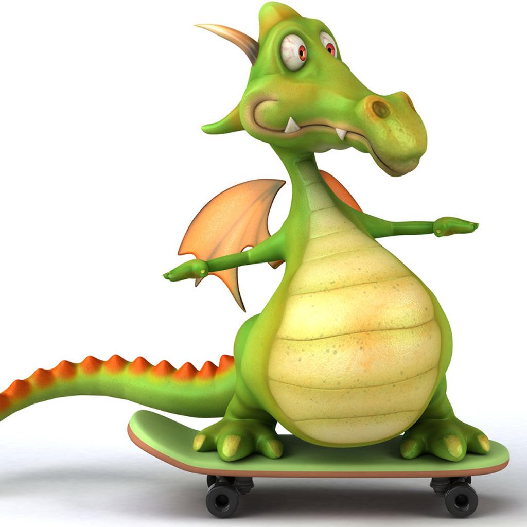 3D cartoon dragon iPad Backgrounds Best iPad Wallpaper Wallpaper 1024x1024