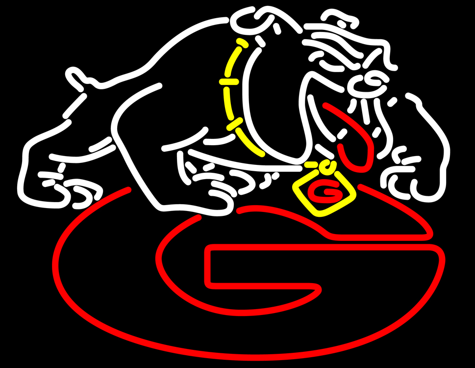 Georgia Bulldogs Logo Tattoo Georgia bulldogs uga logo neon 969x750